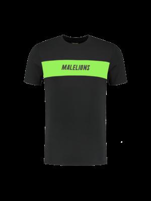 Malelions Sport T-shirt Uraenium Sport - Light Antra/Green