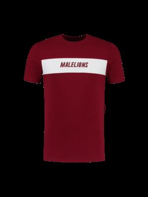 Malelions Sport T-shirt Uraenium Sport - Bordeaux/White