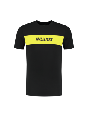 Malelions Sport T-shirt Uraenium Sport - Black/Yellow