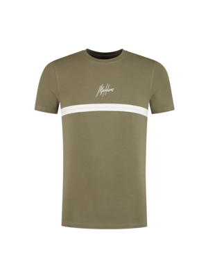 Malelions T-shirt Tonny 2.0  - Army/White