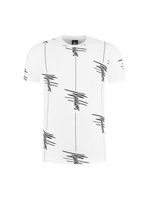 Malelions T-shirt Illusion - White