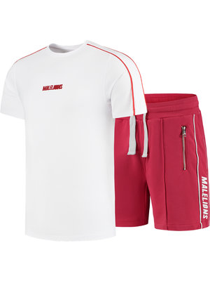 Malelions Twinset Thies - White/Red | PRE-ORDER