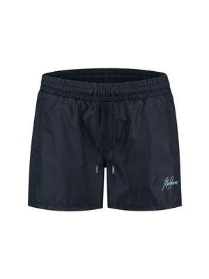 Malelions Swimshort Francisco -  Navy/Light Blue
