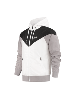 Malelions Sport Windrunner Sport Jacket - Black/White