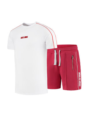 Malelions Junior Junior Thies Twinset - White/Red | PRE-ORDER