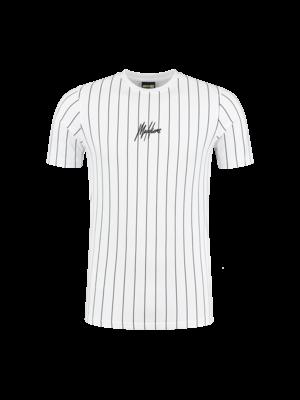 Malelions Sport T-shirt Sport Stripes - White