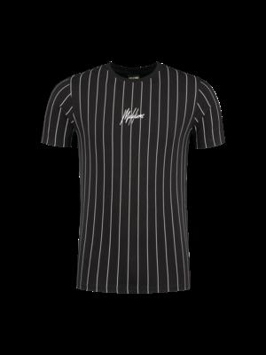 Malelions Sport T-shirt Sport Stripes - Black