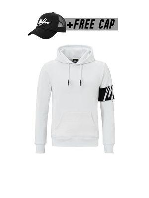 Malelions Captain Hoodie -  White/Black (+FREE CAP)