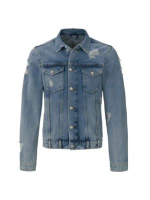 Malelions Denim jacket Vinegar - Light Blue