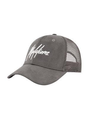 Malelions Cap  Signature - Grey Suede