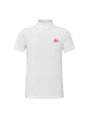 Malelions Turtle Neck Signature - White/Red