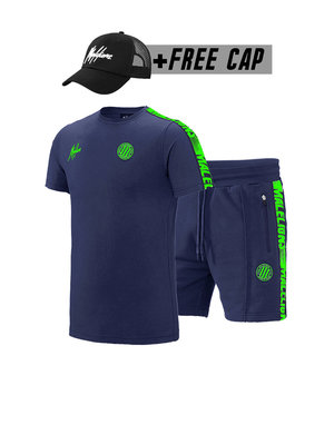 Malelions Sport Twinset Home kit Sport - Navy/Green (+FREE CAP)
