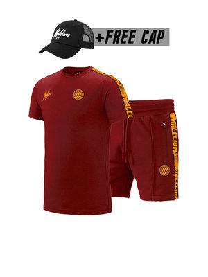 Malelions Sport Twinset Home kit Sport - Bordeaux/Orange (+FREE CAP)
