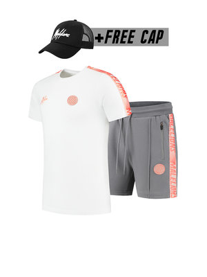 Malelions Sport Twinset Home kit Sport - Salmon/White (+FREE CAP)