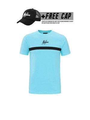 Malelions T-shirt Tonny 2.0  - Light Blue (+FREE CAP*)