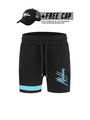 Malelions Short Pablo 2.0 – Black/Light Blue (+FREE CAP*)