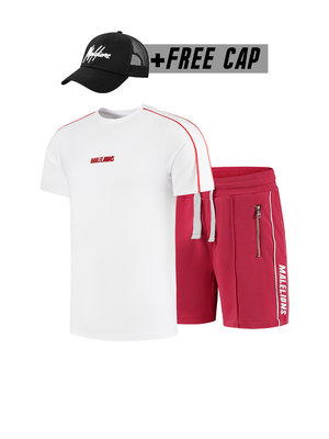 Malelions Twinset Thies - White/Red (+FREE CAP)