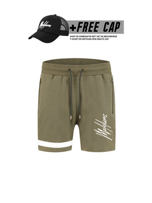 Malelions Short Pablo 2.0 – Army/White (+FREE CAP*)