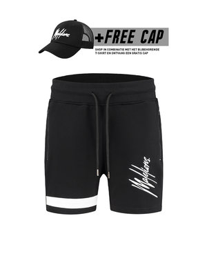 Malelions Short Pablo 2.0 – Black/White (+FREE CAP*)
