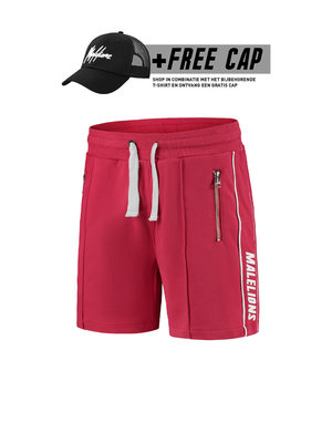 Malelions Thies Short - White/Red (+FREE CAP*)