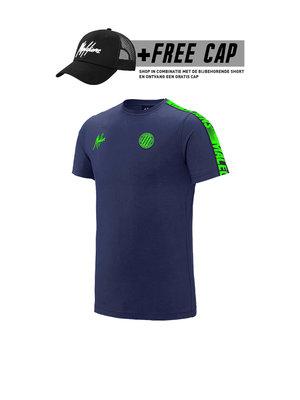 Malelions Sport T-Shirt Home kit Sport - Navy/Green (+FREE CAP*)