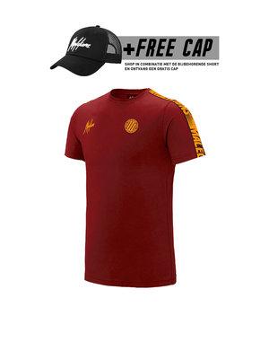 Malelions Sport T-Shirt Home kit Sport - Bordeaux/Orange (+FREE CAP*)