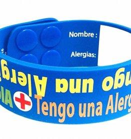 I Have Allergy bracelet English - Spanish