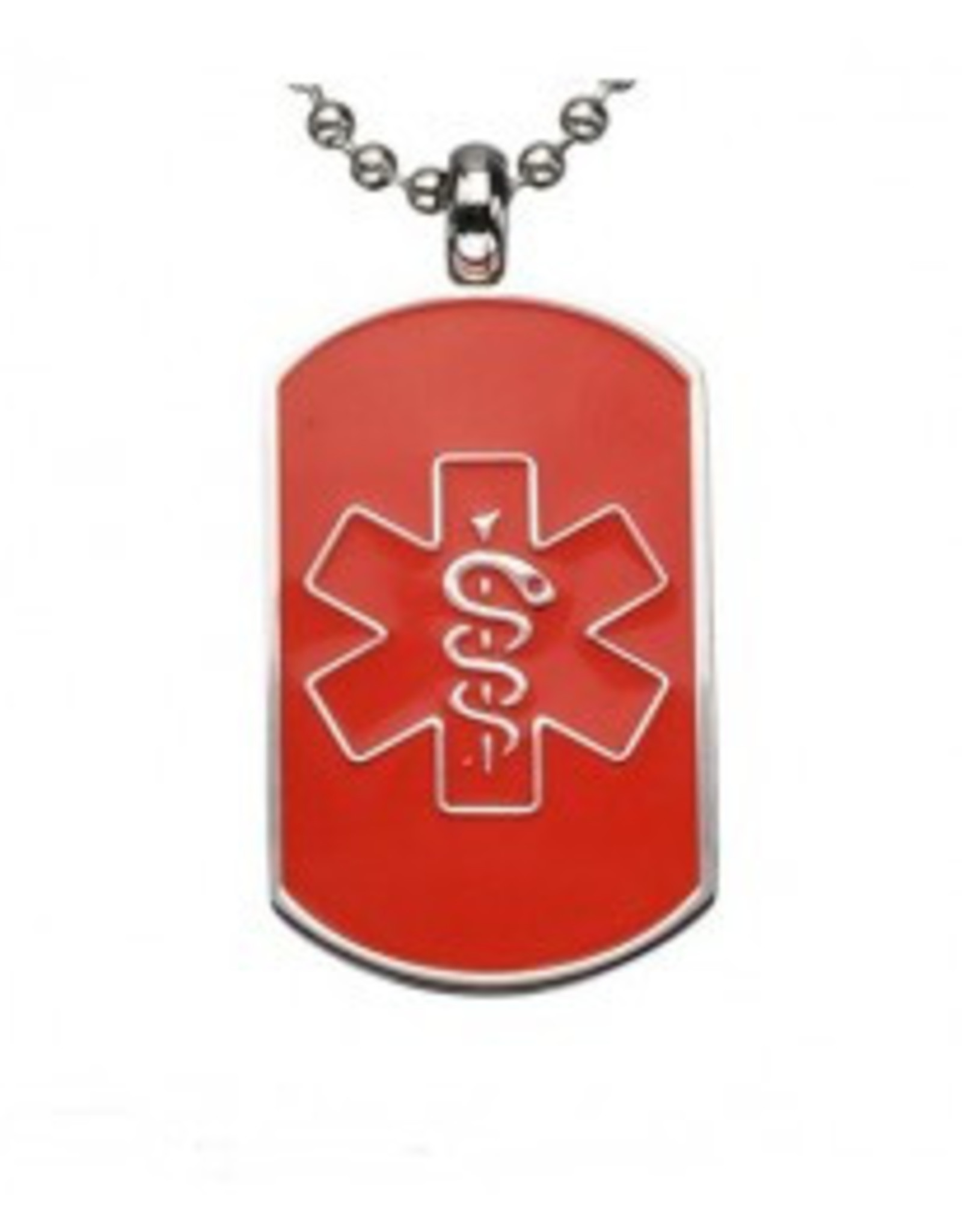 Dog Tag Red