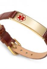 Armband Leder en Goud
