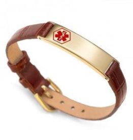 Bracelet en Cuir et Or