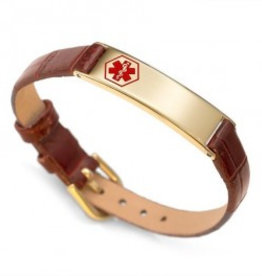 Bracelet Leather and Gold