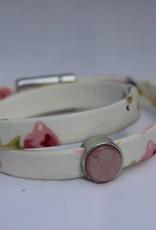 Eigen atelier Armband Wrap wit bloem