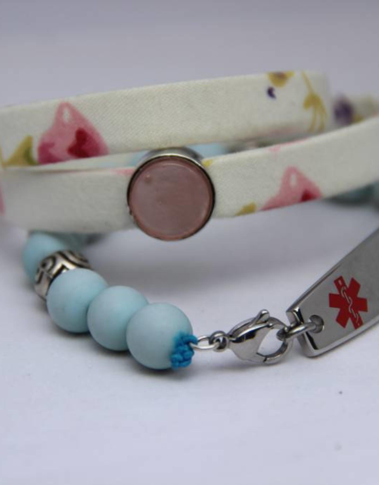 Eigen atelier Bracelet Wrap fleur blanche