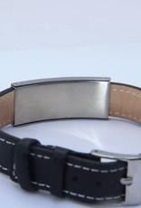 Black leather bracelet Nostalgia