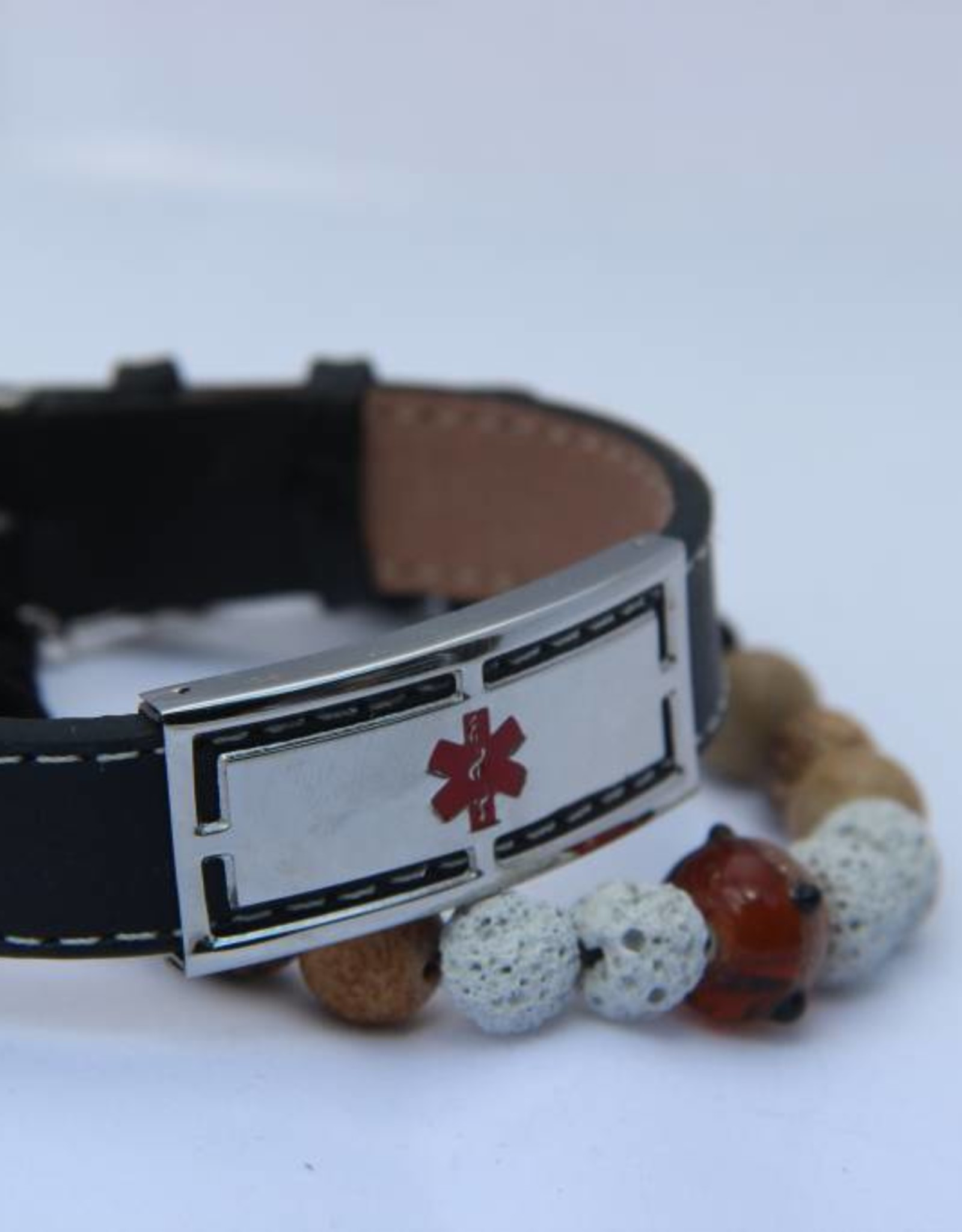 Bracelet en cuir noir Nostalgia