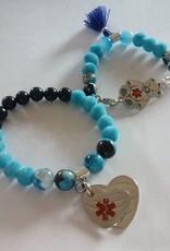 Eigen atelier Beau bracelet combiné bleu pour parents et enfants
