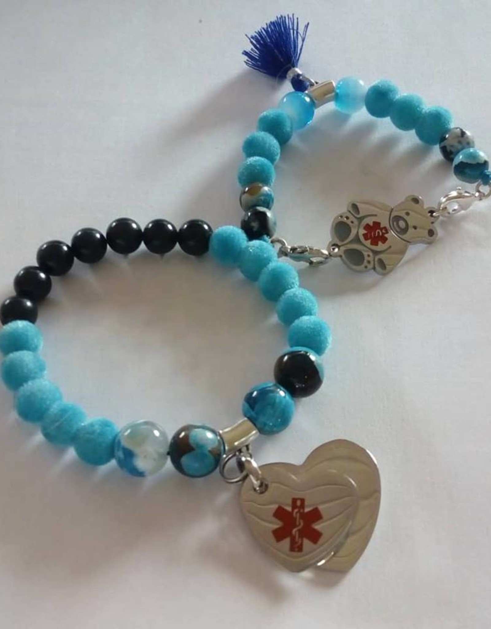 Eigen atelier Mooie Blauwe combinatie armband voor ouder en kind