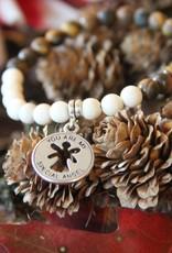 Eigen atelier Bracelet Perlé Bois Blanc