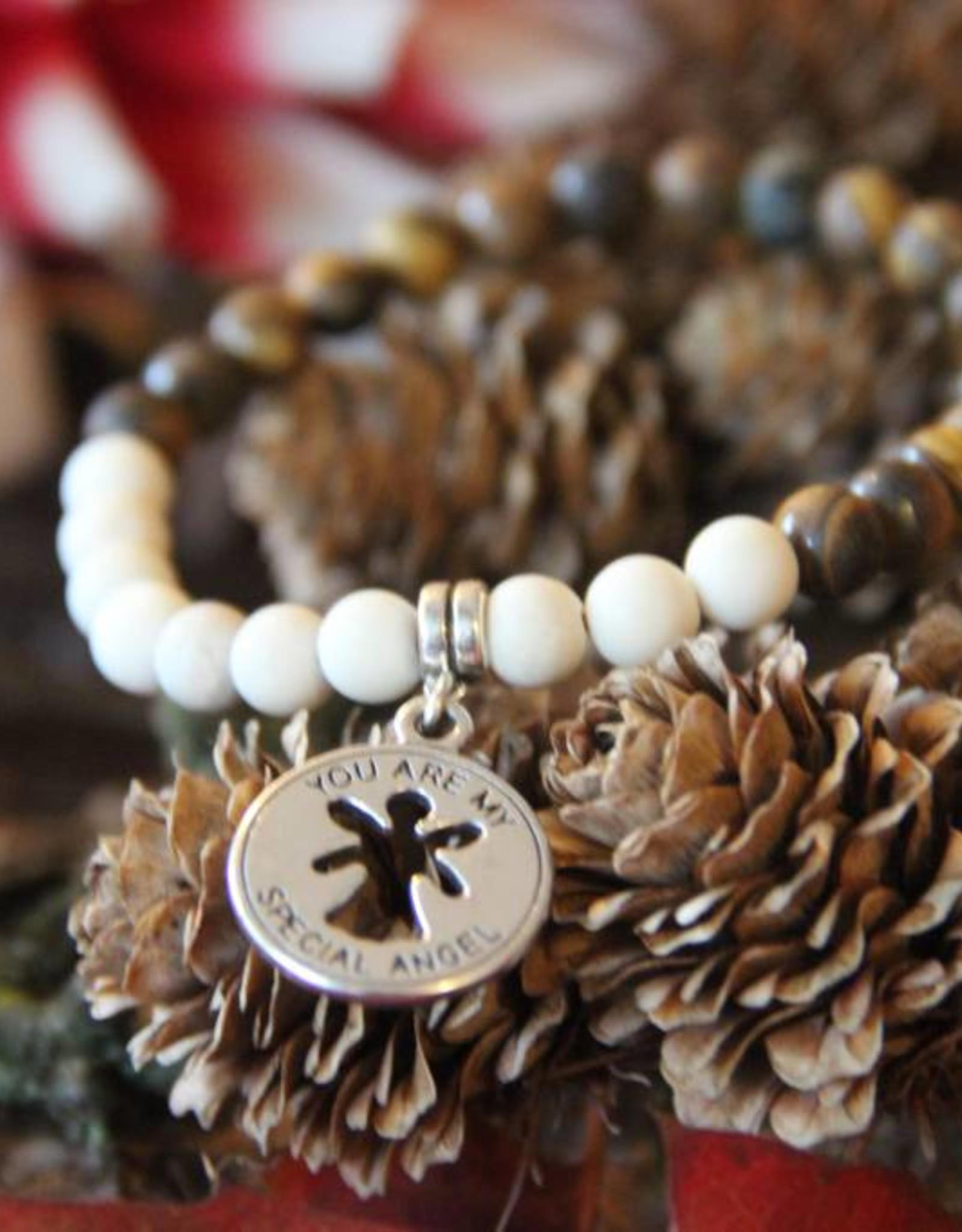 Eigen atelier Beaded bracelet White Woody