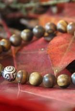 Eigen atelier Bruine armband met houten kralen