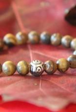 Eigen atelier Bracelet marron avec perles en bois