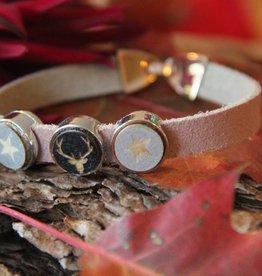 Eigen atelier Lederen armband Rudolf