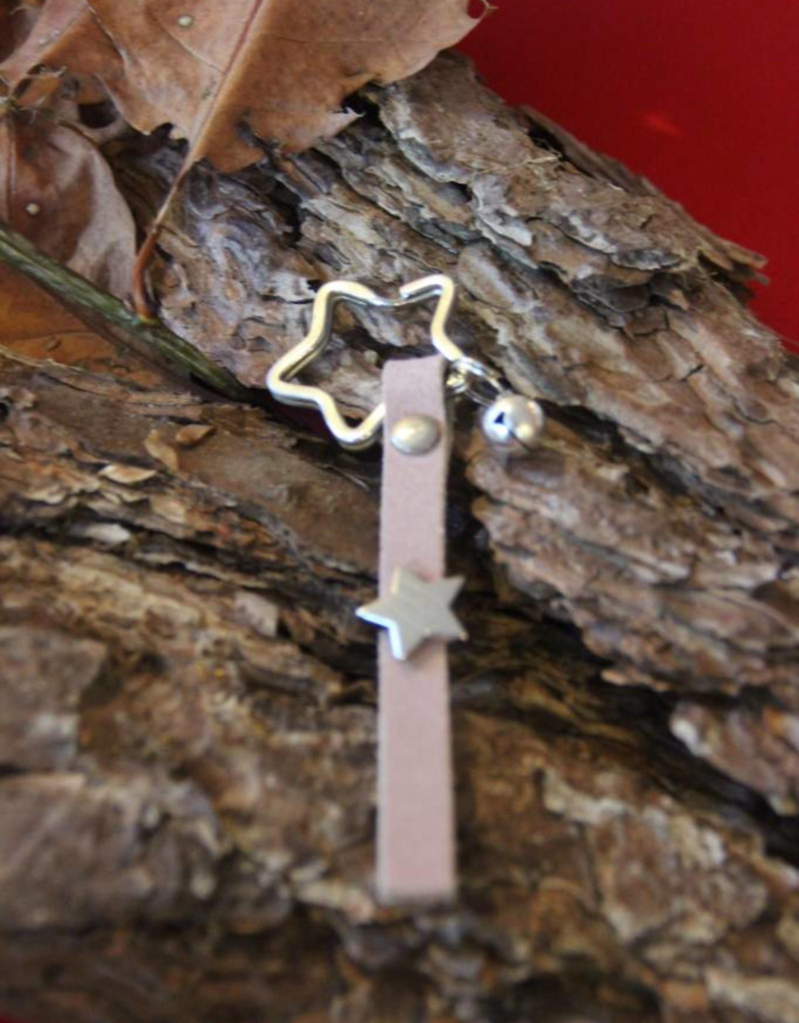 Eigen atelier Lederen sleutelhanger Christ