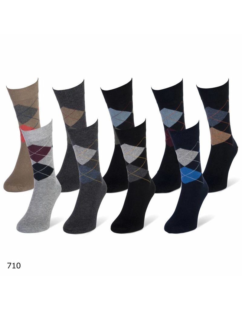 Teckel 3 paar heren sokken met motief