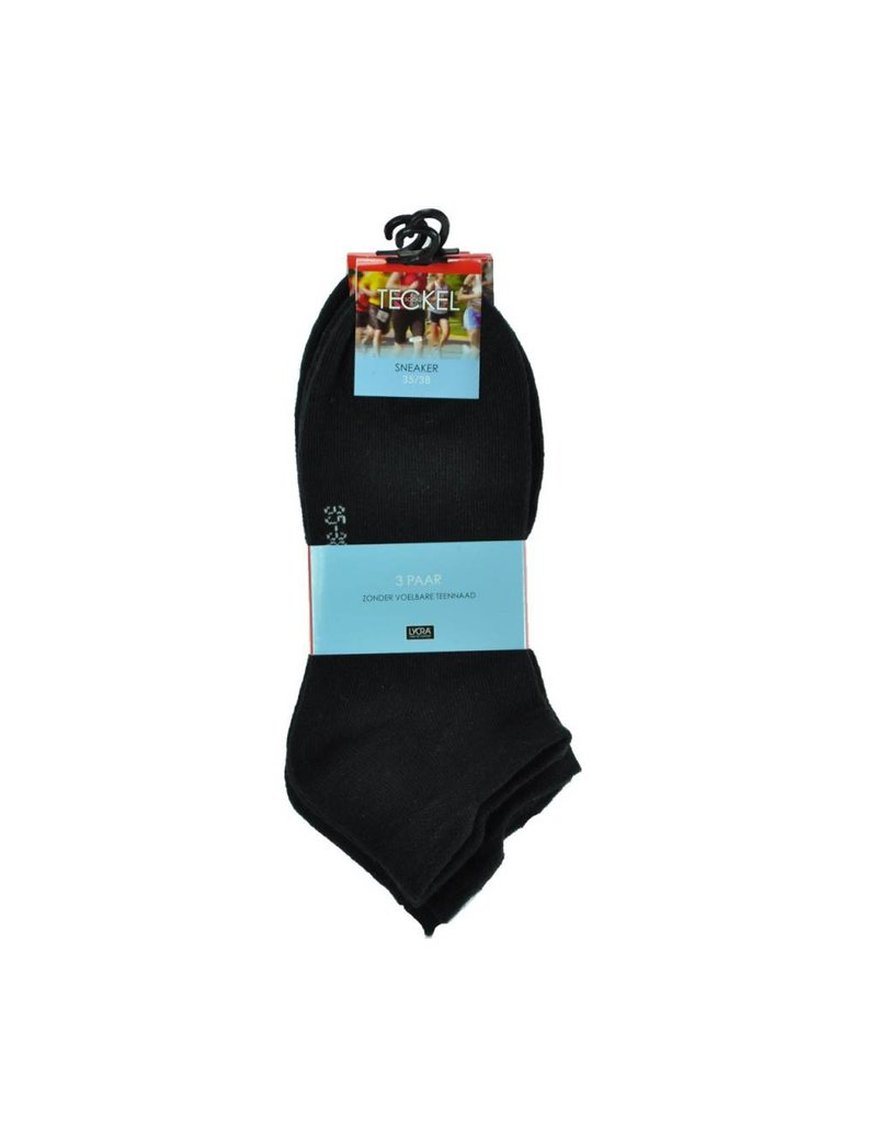 Teckel 3 paar sneaker sokken  naadloos
