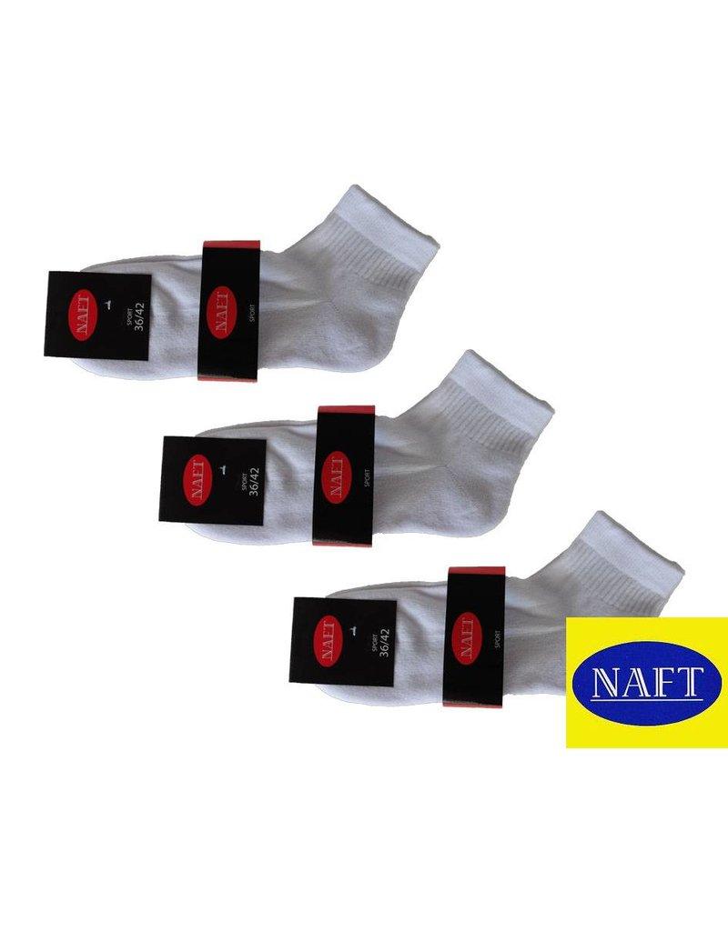 Naft Naft 3 paar korte sport sokken met badstof zool