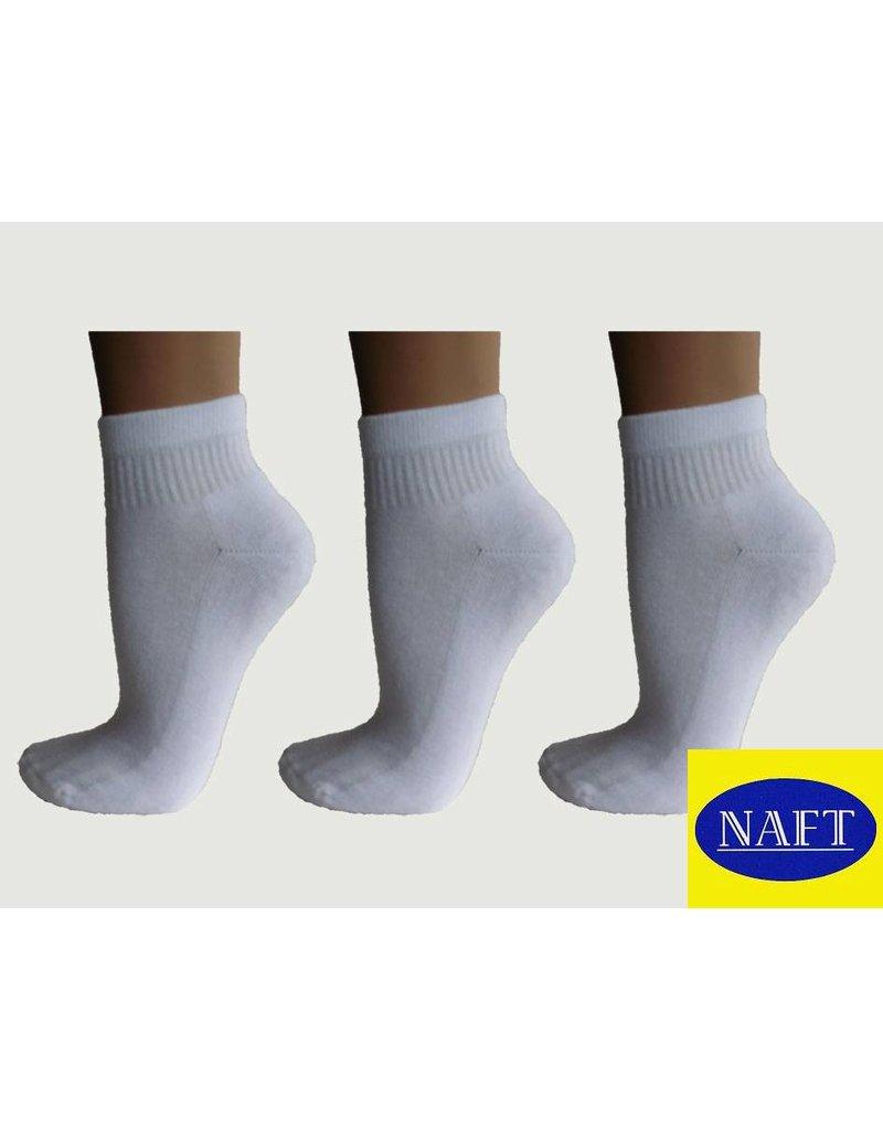 Naft 3 paar korte sport sokken met badstof zool