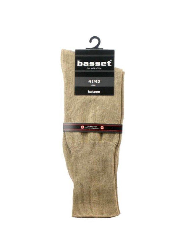 Basset sokken zonder elastiek en niet knellend boord van katoen