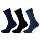 Teckel 3 paar sokken met badstof zool voor extra comfort