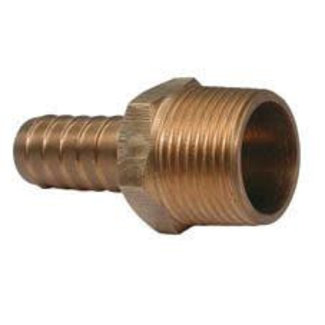 "Aquafax Bronze Connector Male to Hose Tail 3/4"" BSPT - 25mm Hose"